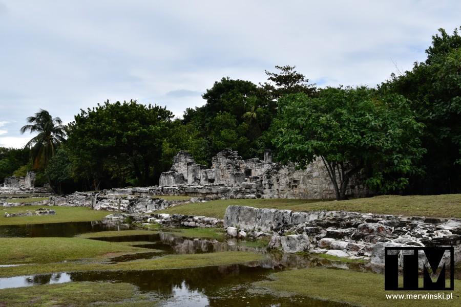 Ruiny dawnej cywilizacji Majów na Jukatanie