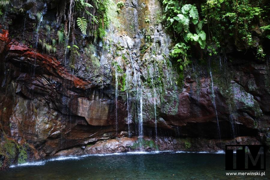 Woda ściekająca w 25 źródłach na Maderze