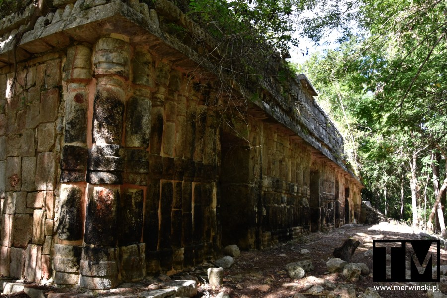 Fragment ruin na Jukatanie w Sayil
