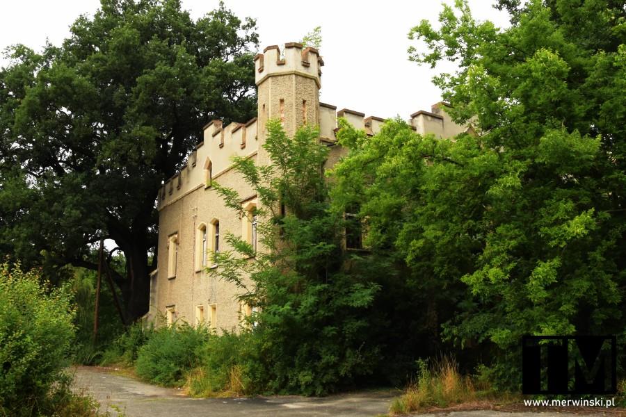 Pałac Sybilli w Szczodrem pośród drzew