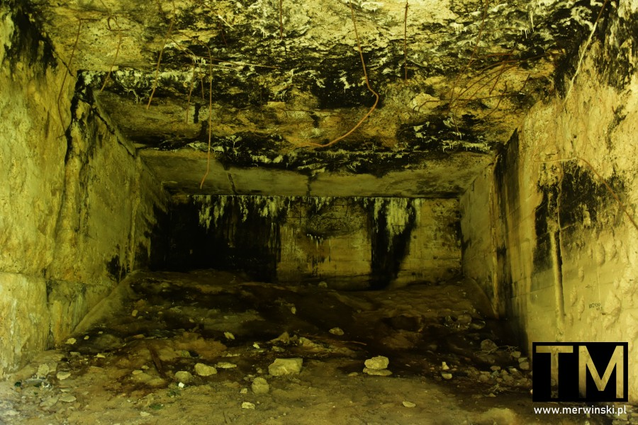 Wnętrze bunkra pod Jelczem-Laskowice