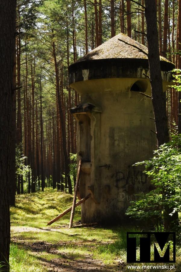 Jelcz-Laskowice - stara wieża obserwacyjna w lesie