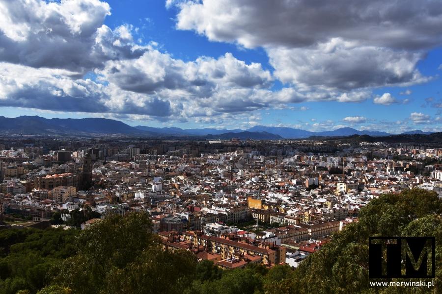 Widok na Malagę z Alcazaby