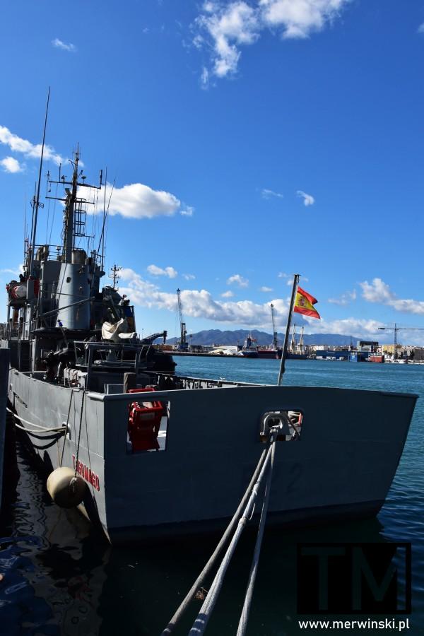 Hiszpański okręt wojenny w Maladze