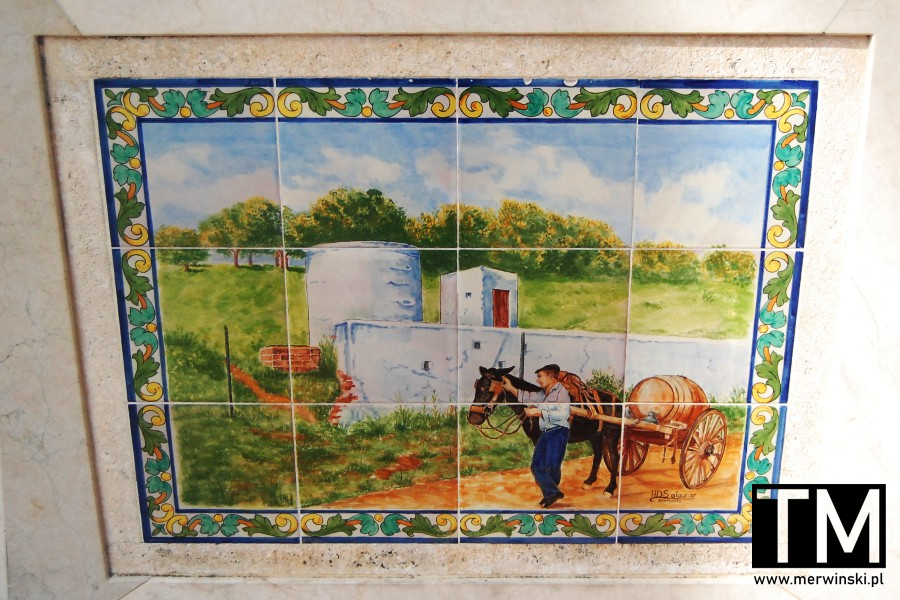 Azulejo prezentujące rozwozicieli wody