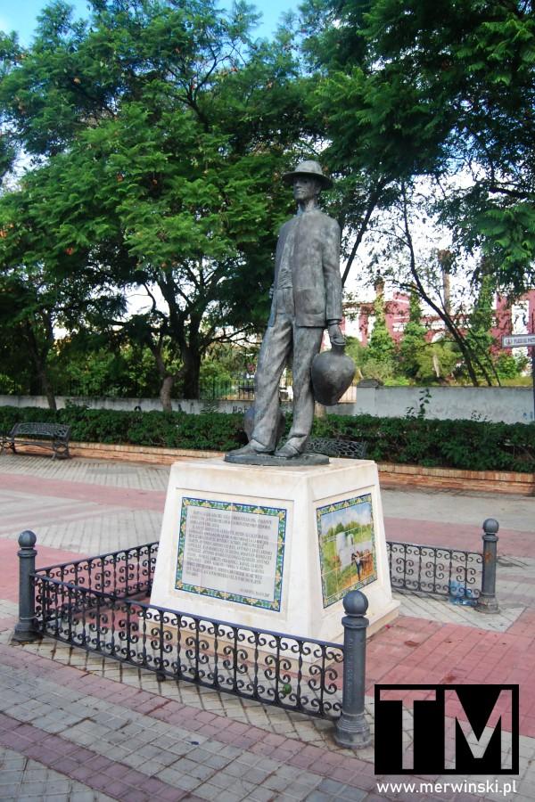 Rzeźba roznosiciela wody w Andaluzji w Ayamonte