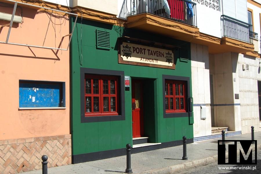 Zielony Port Tavern w Ayamonte w hiszpańskiej Andaluzji