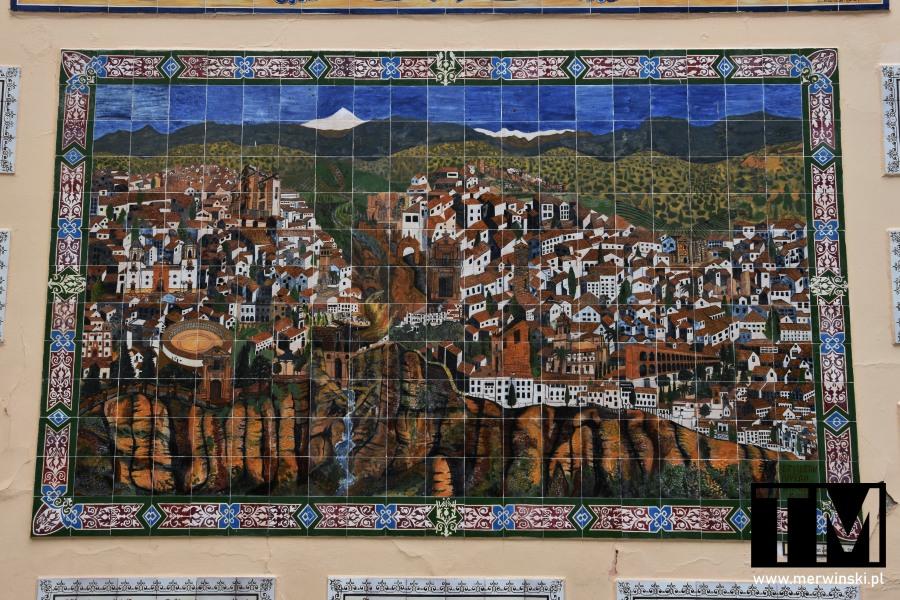 Azulejo przedstawiające Rondę