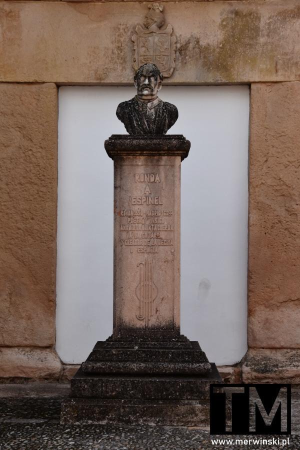 Popiersie poety i muzyka Vicente Espinel w Rondzie