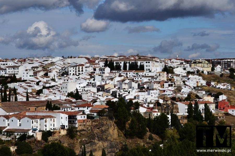 Widok na Rondę w Hiszpanii